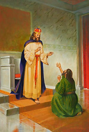 The pardon granted by this king represents Christ's forgiveness of all sin.