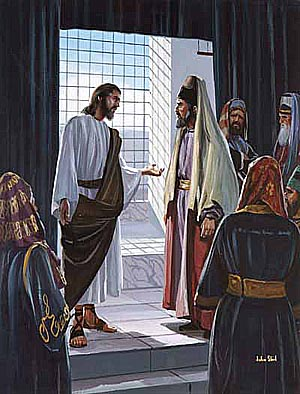 The scribes and Pharisees came to Jesus hoping to trap Him.