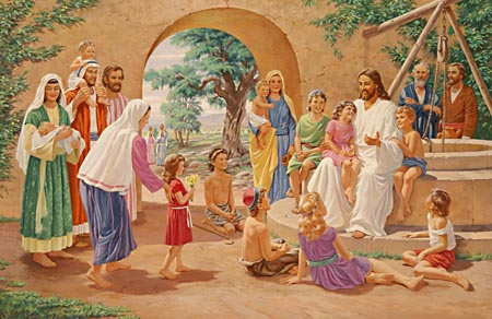 Wherever the Saviour went, His kind countenance and gentle, kindly manner won the love and confidence of children.