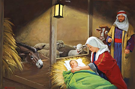 Ye shall find the babe wrapped in swaddling clothes,