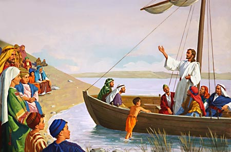 From Peter's boat, Jesus proclaimed the good news of salvation.