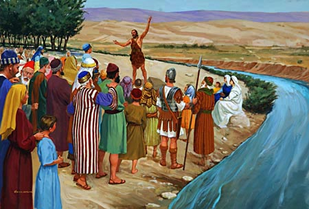 John proclaimed the coming of the Messiah, and called the people to repentance.
