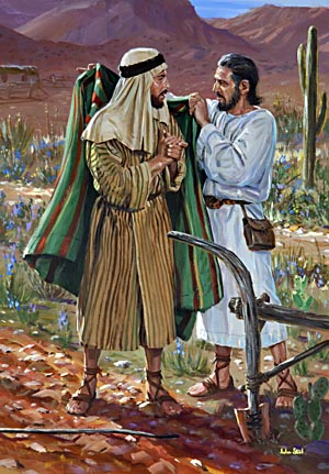 As Elijah, divinely directed in seeking a successor, cast his mantle upon the young man's shoulders, Elisha recognized and obeyed the prophetic call.