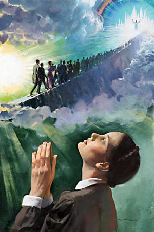 In Ellen White's first vision she was shown a narrow path on which God's people were traveling to heaven.