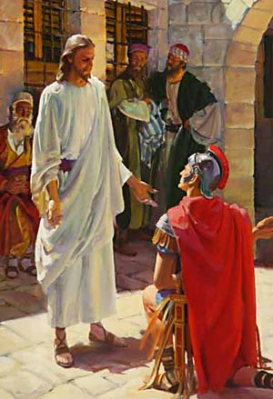 The centurion said, 'Speak the word only, and my servant shall be healed.'
