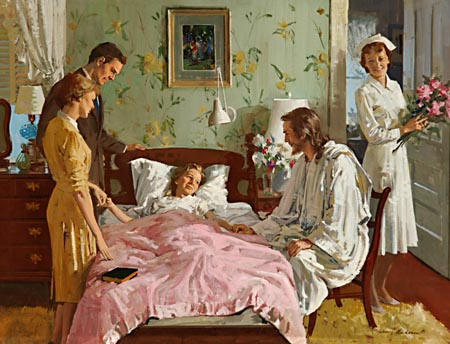 The Christian nurse, while administering treatment for the restoration of health, will pleasantly and successfully draw the mind of the patient to Christ, the healer of the soul as well as of the body.