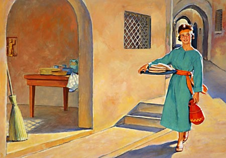 The conduct of the captive maid, the way that she bore herself in that heathen home, is a strong witness to the power of early home training.