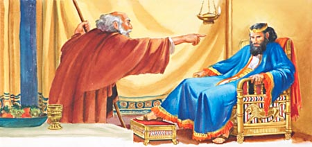 Would Nathan the prophet dare give a message of reproof to King David?