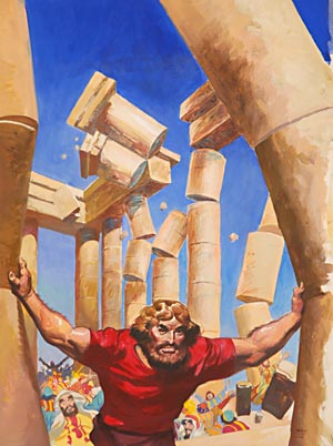 In what way was Samson one of the weakest men who ever lived?