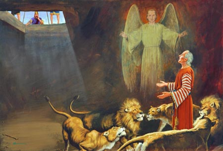 """My God hath sent his angel, and hath shut the lions' mouths, that they have not hurt me."""