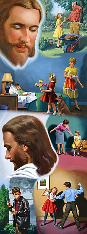 The child who loves his parents will show that love by willing obedience; but the selfish, ungrateful child seeks to do as little as possible for his parents, while he at the same time desires to enjoy all the privileges granted to the obedient and faithful. The same difference is seen among those who profess to be children of God.