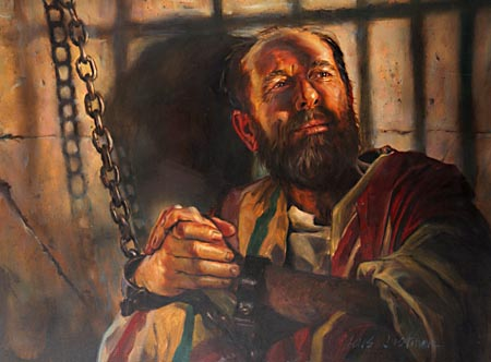 At the house of a disciple in the city of Troas, Paul was again seized, and from this place he was hurried away to his final imprisonment—a gloomy dungeon, there to remain, chained night and day, until he should finish his course.